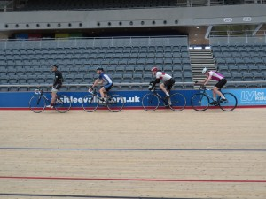 Lining up for the Team Pursuit - Team 1