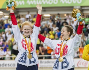 Sophie and Helen, Paralympic Champions in the kilo, 2016