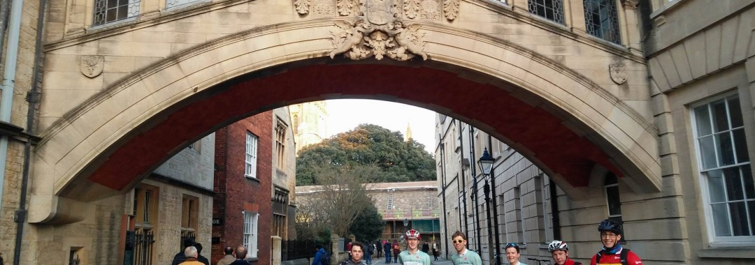 Showing off the Cambridge Jerseys beneath their Bridge of Sighs